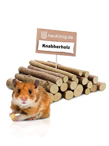 heukoenig.de Knabberholz für Kaninchen und Meerschweinchen und alle Nager 140g
