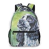 Judascepeda Multi-Freizeitrucksack,Englisch Cocker Spaniel Hund Porträt Haustier, Reisesport Schultasche für erwachsene Jugendliche College-Studenten