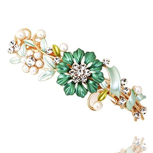 Korean version of faux Pearl flower hair clip top clip headgear Korea hairpin hair accessories Horizontal clamp clip-B