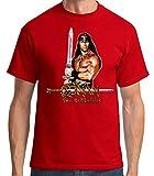 Desconocido 35mm - Camiseta Hombre Conan The Barbarian - El Barbaro - Cine 80's -EGB - Rojo - Talla l