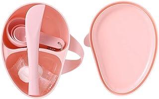 EXCEART Facemask Mengen Tool Sets Facial Mengkom Stick Spatel Compressionmasks Borstels Voor Home Spa Facial Modder Crème...