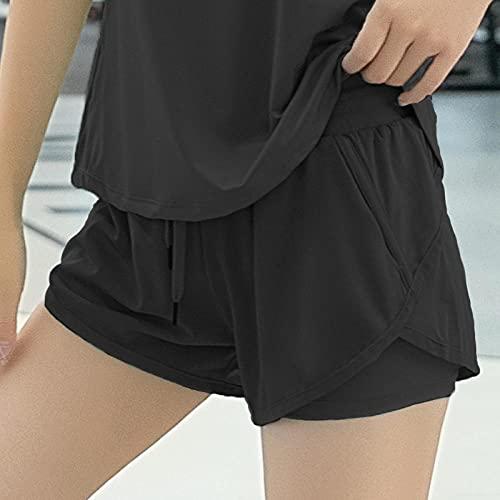 bayrick Leggings Sin Costuras Corte de Malla Mujer Pantalon,Cinta de Pantalones Cortos de Yoga Anti-luz Sueltos de Verano-1_Metro
