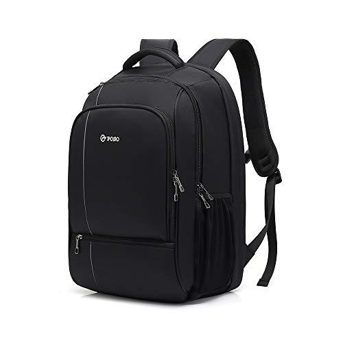 LYFEI Robust 17-Zoll-Hochleistungs-Außen Rucksack wasserdichte Computer-Beutel Business Double-Sicherheitspaket (Farbe : Black, Größe : XL)