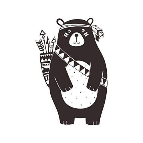 RFWPA Wandaufkleber Woodland Animal Bear Wandaufkleber Für Kinderzimmer Tribal Nursery Wandaufkleber Dekoration Vinyl Wandbild