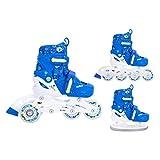 SMJ Monster - Juego de patines en línea para niños (3 en 1, ajustables, ABEC5, convertibles en patines de hielo (talla S 30-33))