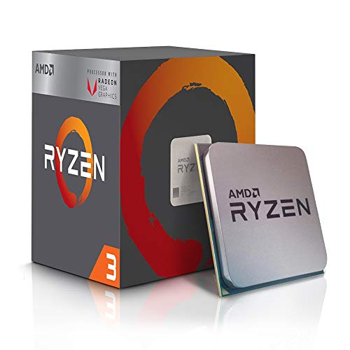 AMD Ryzen TM 3 2200G mit RADEON TM RX VEGA 8, S AM4, Quad Core, 4 thread, 3,5 GHz, 3,7 GHz, 4 MB, 65 W, CPU