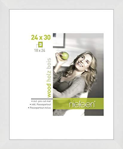 Nielsen Accent Holz Bilderrahmen Apollon, 24x30 cm, Weiß