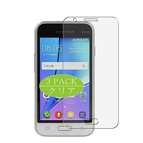 VacFun 3 Piezas HD Claro Protector de Pantalla Compatible con Samsung Galaxy J1 Nxt, Screen Protector Sin Burbujas Película Protectora (Not Cristal Templado) New Version
