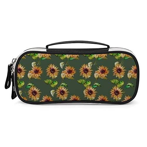 Flores (6) estuche de gran capacidad para lápices, bolsa de mano, organizador de bolígrafos, bolsa de papelería, con cremallera duradera para suministros escolares y de oficina