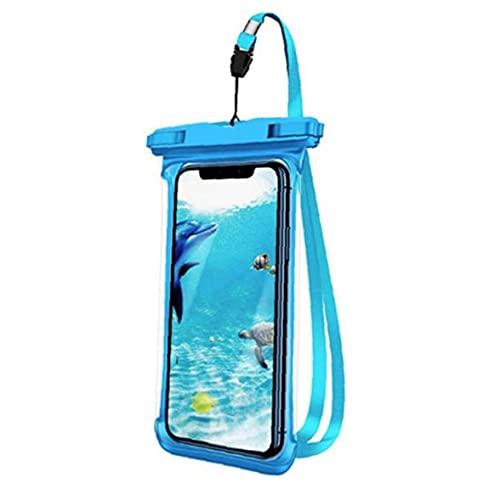 cdzhouji Bolsas De Teléfono Caja De Teléfono a Prueba De Agua Bolso Seco De La Bolsa De Teléfono Flotante con El Lanyard Azul