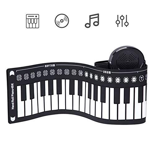 URAURORA Draagbare 49 toetsen Roll Up Piano Gift, Elektronische Zachte Toetsenbord Piano met Siliconen Toetsenbord voor Beginners Home Entertainment Muziek Educatief