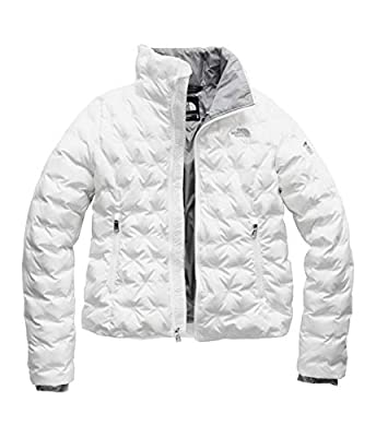 The North Face Women's Holladown Crop Jacket, TNF White, XL