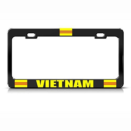 South Vietnam Metal Black Heavy Country Pride License Plate Frame Tag Holder Perfect for Men Women Car garadge Decor