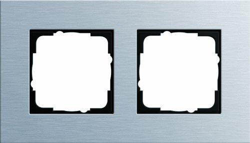 Gira 021217 Abdeckrahmen 2-fach Esprit Aluminium