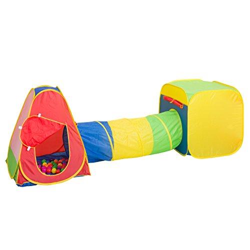 シンセーインターナショナル たのしいトンネルつきテントハウス 80x90x315cm(連結時) ボール50個付き おうちで遊べるテントハウス 88-786