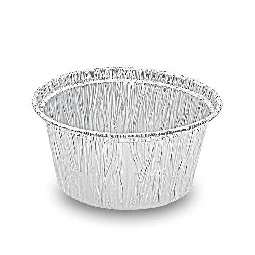 1-PACK ALU Grill-, Back- und Servierschale rund, 110 ml, 80x34mm / Hervorragend zum Grillen, Backen und Servieren!, 100 Stück