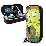 Rick y Morty Temporada 4 Estudiantes Bolsas de papelería Estuche para lápices Estuche de cuero Pu Estuche para bolígrafos con cremallera para la escuela Suministros de oficina en casa ^ A5