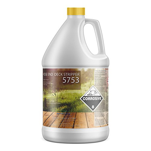 Deck Stripper 5753 by DeckGeneral   Removes Stains, Finishes, Coatings, Sealers & Paint   Easy to Apply   Works on Multiple Wood Surfaces   0 VOC   Water Based Formula   1 Gallon