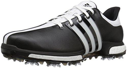 adidas Men's Tour 360 Boost Cblack/FTW Golf Shoe, Black, 10.5 M US