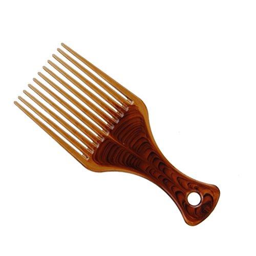 Hair Pick Kamm Ultra Smooth No Frizz Haar Lift Pick Kamm für Frisur (Kaffee)
