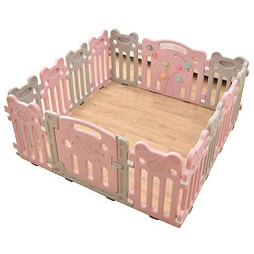 KUANDARGG Valla de juego para niños Baby Parque infantil infantil infantil valla de seguridad para el cuidado del bebé Pet Playpen Room Divider