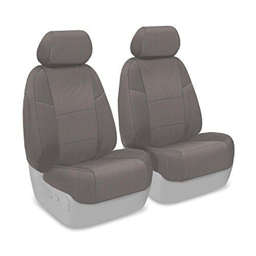 Poly-Cotton, Black Fia SP87-52 BLACK Custom Fit Front Seat Cover Bucket Seats