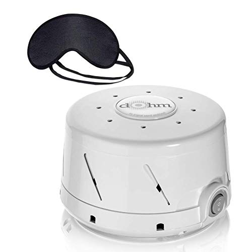 Marpac Dohm-DS All Natural Sound Machine & Zonoz Sleepy Eyez Lightweight Sleeping Mask (Grey)