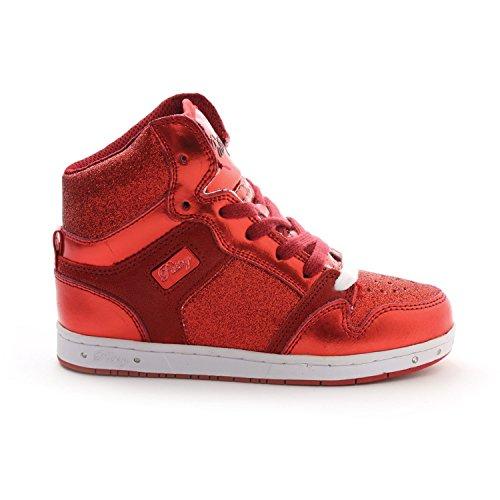 Pop Tart Glitter Girl's Sneakers, Red, 3