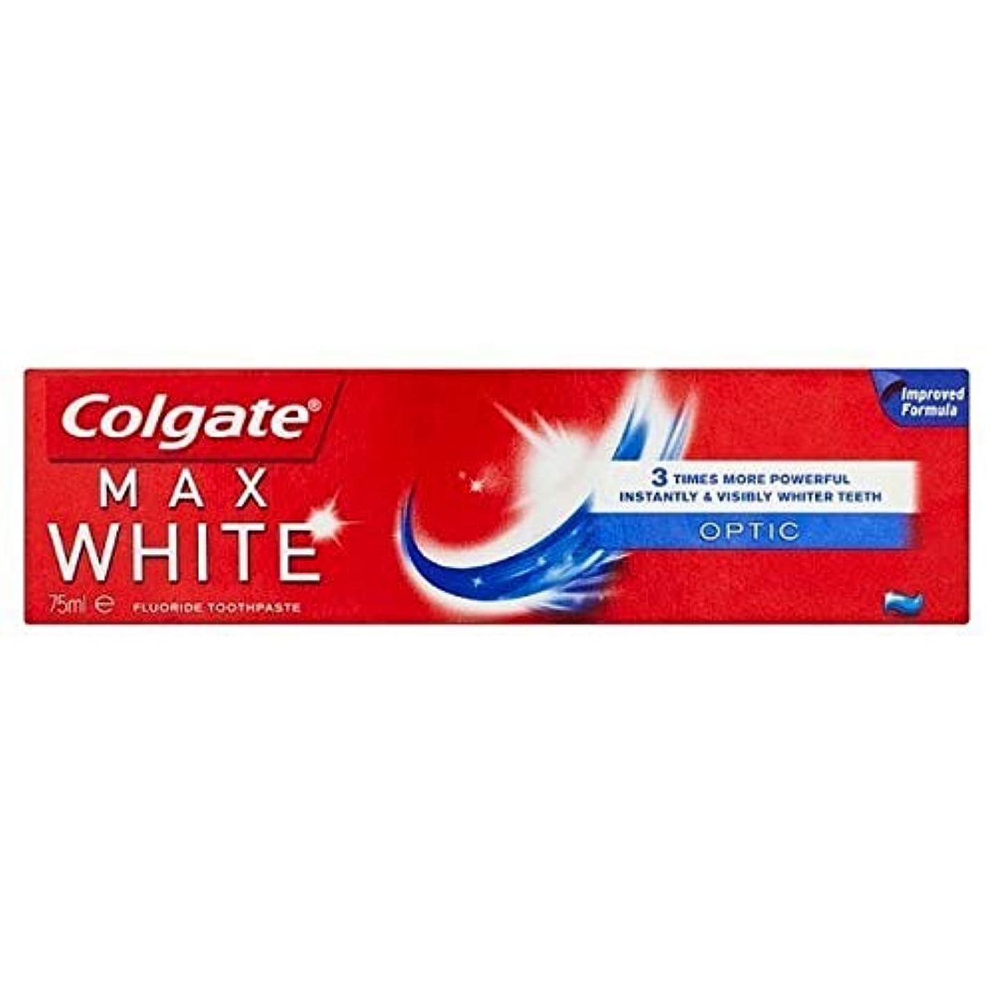 バング泥だらけイヤホン[Colgate ] コルゲート最大白い光ホワイトニング歯磨き粉75ミリリットル - Colgate Max White Optic Whitening Toothpaste 75ml [並行輸入品]