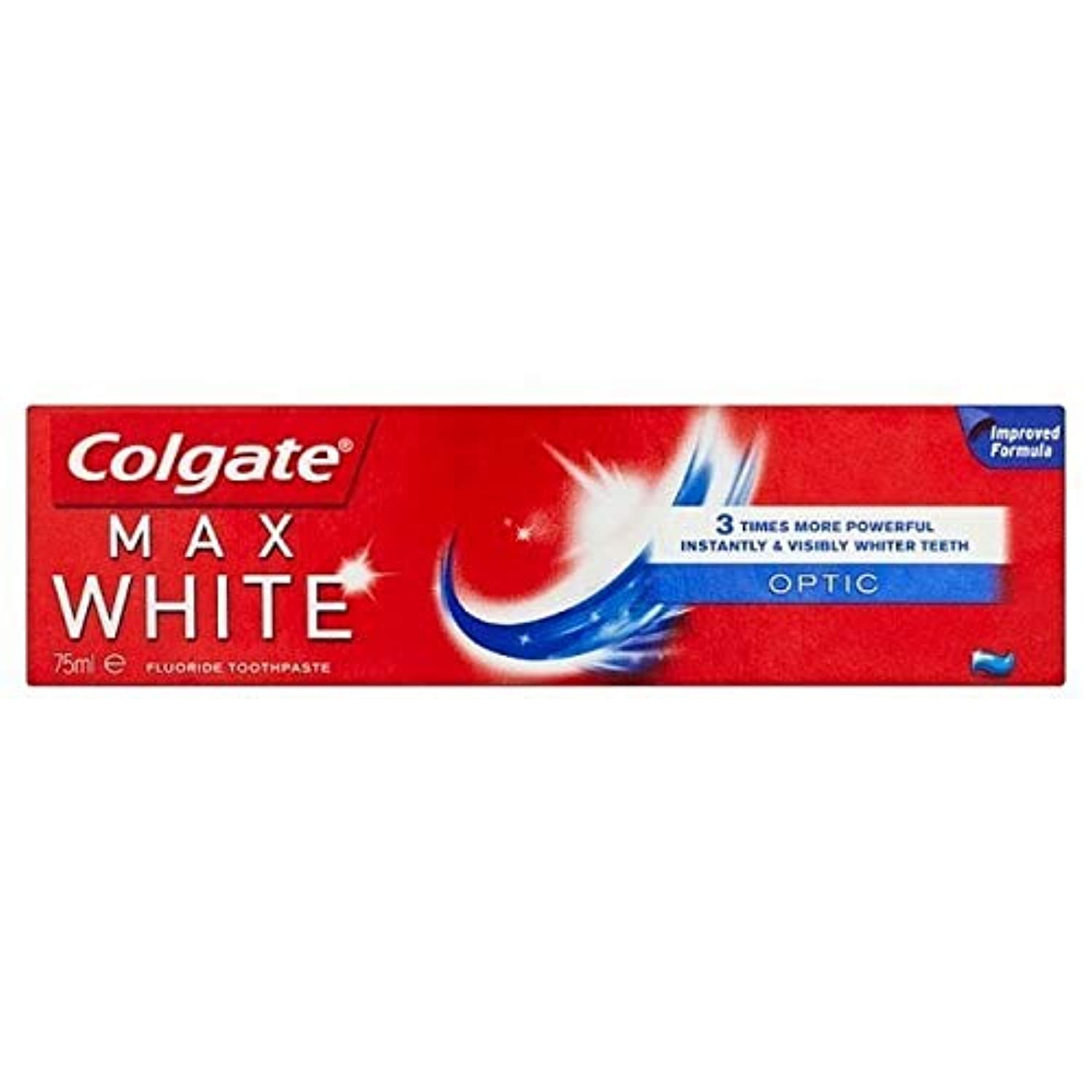 [Colgate ] コルゲート最大白い光ホワイトニング歯磨き粉75ミリリットル - Colgate Max White Optic Whitening Toothpaste 75ml [並行輸入品]