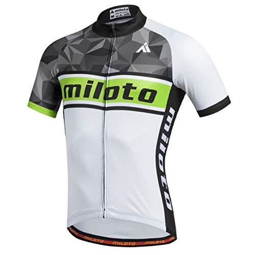 XIAMAZ Maillot de ciclismo New Team Pro Maillot de ciclismo MTB Ciclismo Ropa de bicicleta Maillo (color: 15 camisetas cortas, tamaño: S)