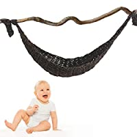 SIPUSENSAMA 新生児 ハンモック 写真 撮影小道具 タックネット ウール糸 幼児 赤ちゃん ネットハンモック 吊り下げ式 子供玩具収納 写真撮影用 ぬいぐるみ用 0-3ヶ月