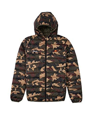 ellesse Jacke Herren LOMPARDY Padded Jacket Camouflage Camo Print, Größe:S