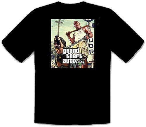 GTA V GTA 5 Grand Theft Auto 5 Rockstar Jogos Games schwarz T-Shirt -130 (M)