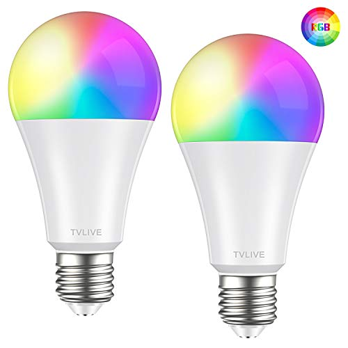 Bombilla LED Inteligente WiFi, TVLIVE 2 Pack 10W E27 Bombilla LED...