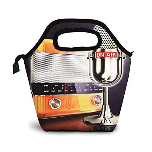 Bolsa Térmica Comida Bolsas De Almuerzo para Mujeres Hombres Niñas Niños Bolsa Isotérmica De Almuerzo Radio Air en vivo