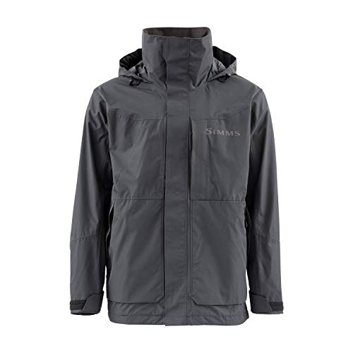 Simms Challenger Waterproof Fishing Rain Coat, Black XL