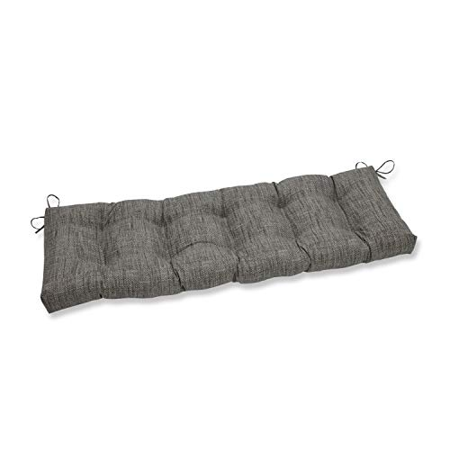 Pillow Perfect Outdoor/Indoor Remi Patina Tufted Bench/Swing Cushion, 60' x 18', Gray