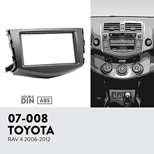 UGAR 07-008 Kit de Panel Frontal de instalacion de Tablero de Radio DIN Doble para Toyota RAV 4 2006-2012