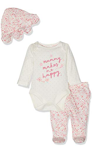 Mothercare Mummy and Daddy 3-Piece Set Body, Rose (Pink 130), 68 cm(3-6 Mois) Bébé Fille