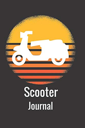 Scooter Journal: Retro Vintage Scooter Moped Mofa Lovers Notebook Journal and Diary Blank Linked Pages Present and Gift for Scooter Moped Mofa Fans