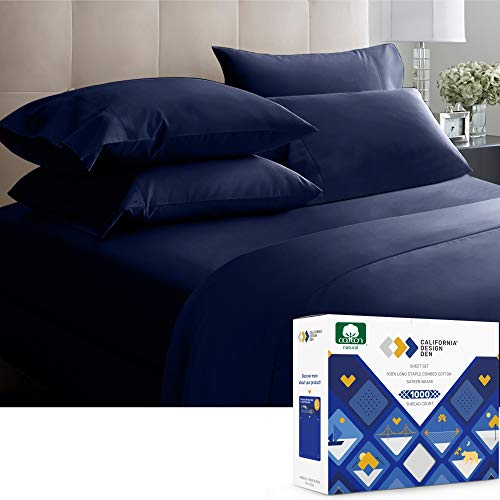Authentic Lux 1000 Thread Count 100% Cotton Sateen, Soft...