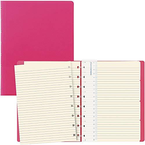 Filofax B115075U Saffiano Fluoro Notizbuch, A5, 112 Seiten, cremefarben Inklusive 4 Indexen (eine mit Tasche) und Lesezeichen, Pink