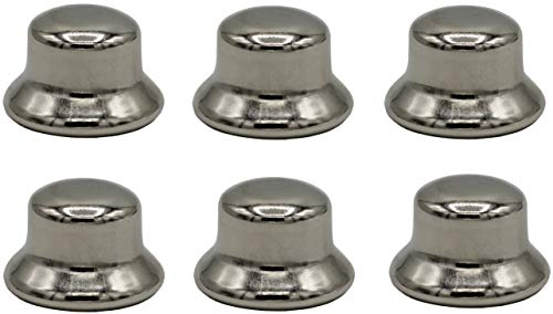 Creative Hobbies ELY2453-1/2 Inch Tall Polished Nickel Steel Finials tapped 1/4-27 for Lamp Shade Holder Harp Tops -Pack of 6