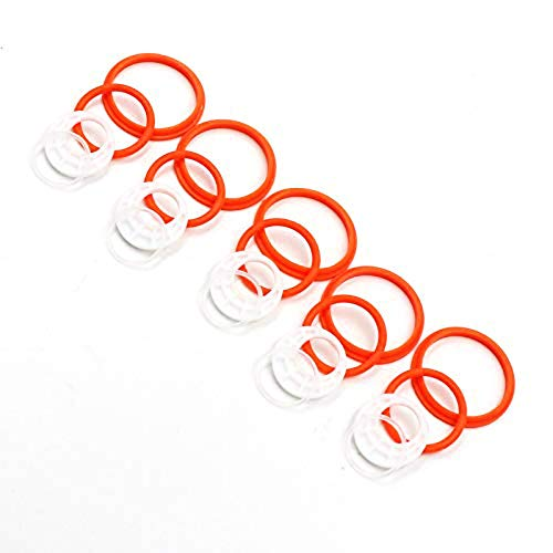 5 Pack Silicone Seals Rings Replacement O Ring Set Rubber Seal Gasket Various Model Available (Orange-5 Pack)