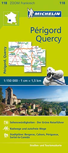 Michelin Périgord, Quercy: Straßen- und Tourismuskarte 1:150.000 (MICHELIN Zoomkarten)