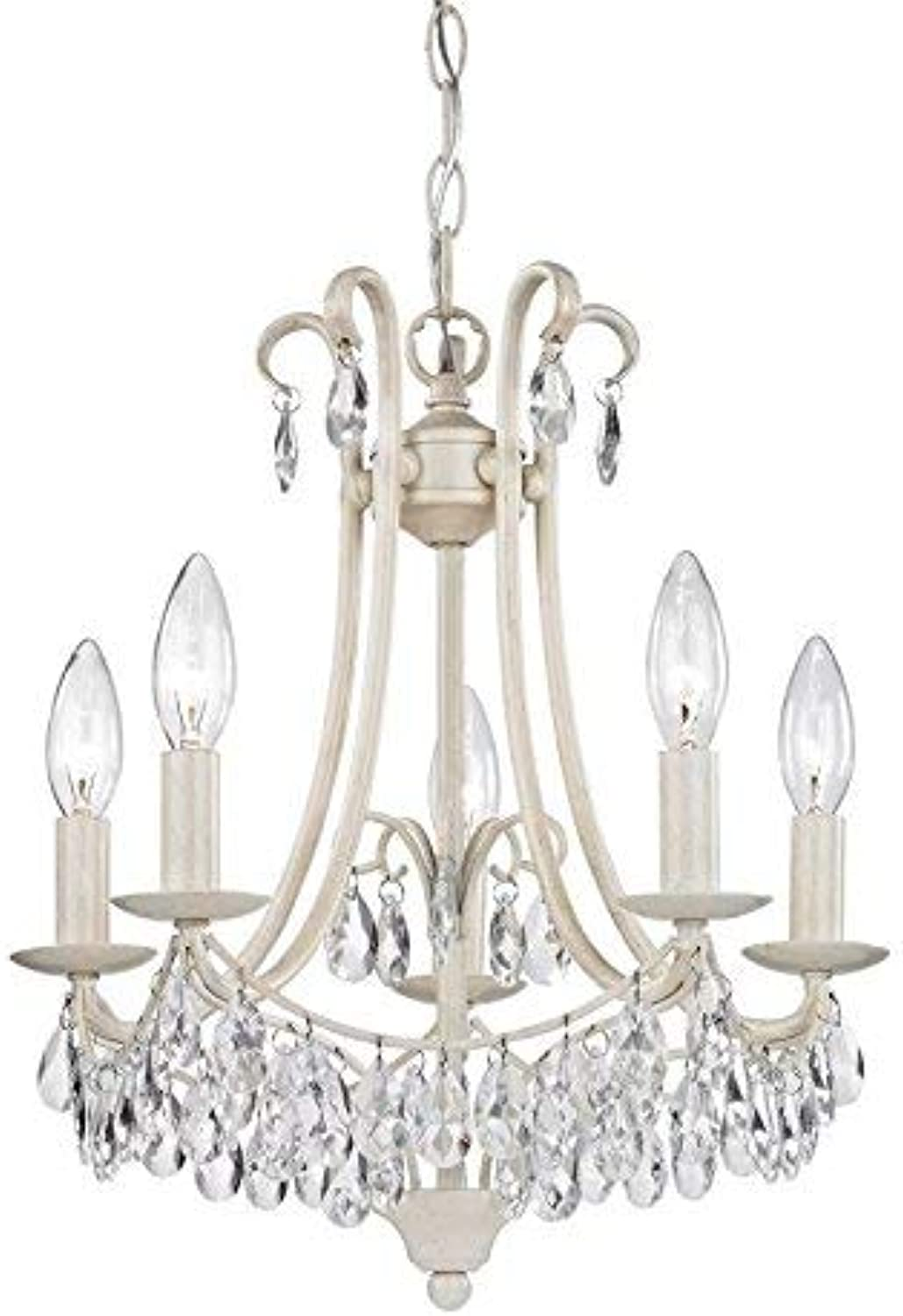 Sterling Home 122-021 Mini Chandelier, 14  x 14  x 16 , Cream Clear