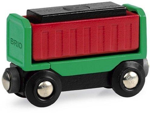Brio - Circuit de train en bois - Wagon avec chargement
