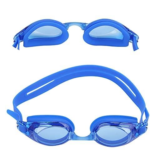 Dilwe Gafas de natación, Gafas de natación antivaho de Alta definición sin Fugas Que se adaptan a los contornos faciales Europeos para Hombres y Mujeres(Azul)