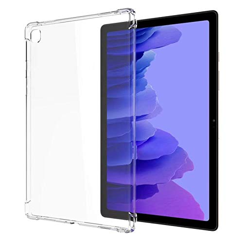 Ultra Klar Hülle Kompatibel mit Samsung Galaxy Tab A7 10.4 Zoll 2020 SM-T500 T505 T507, Dünn Schlank Stoßfest Eckenschutz Flexible Silikon Gel Gummi Rückseit Schutzhülle Cover Skin - Transparentem